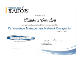 Performance Management Network Designation